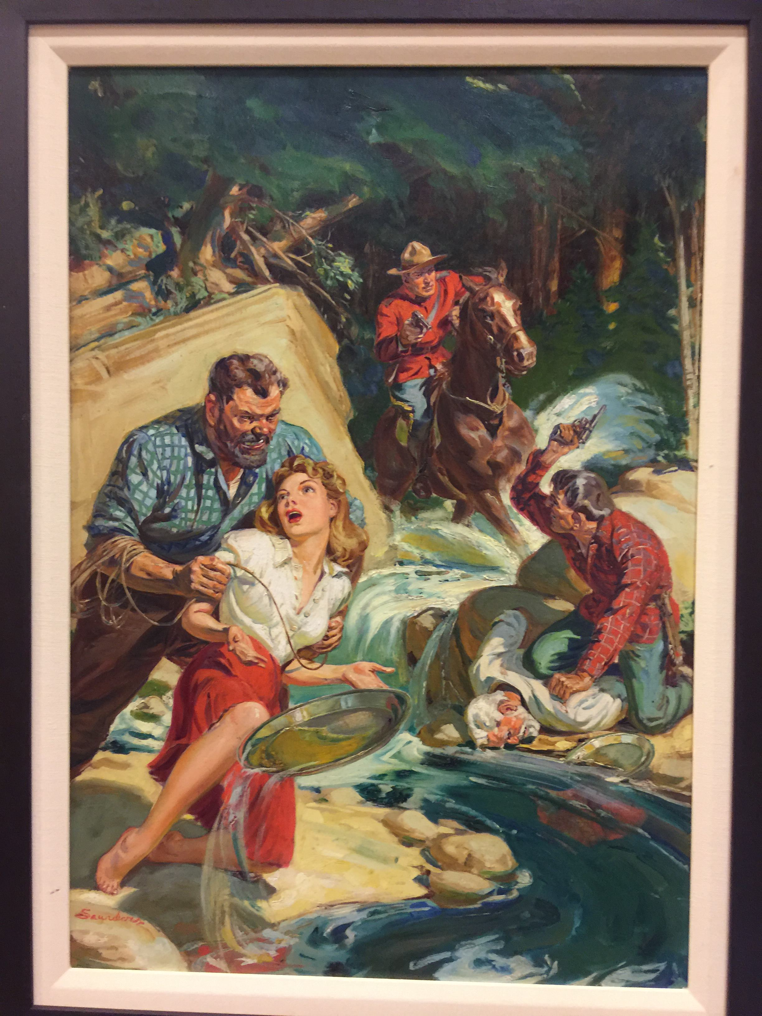 Norman Saunders Northwest Romances cover